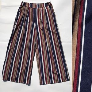 Lucy Wang Striped Retro 70s Wide Palazzo Pants M